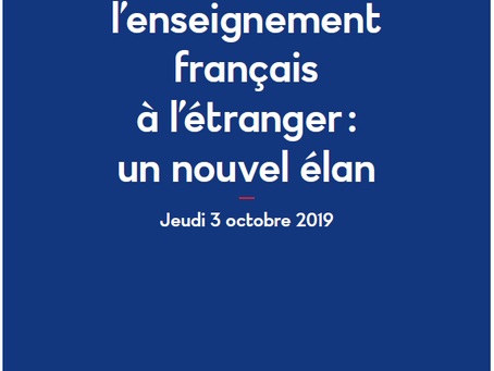 PRESS KIT - DEVELOPIING FRENCH EDUCATION ABROAD: A NEW MOMENTUM  DOSSIER DE PRESSE - DÉVELOPPER L'