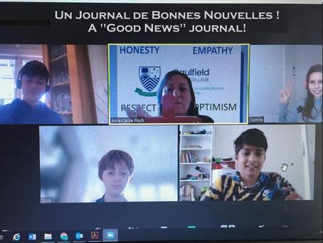 JOURNAL DE BONNES NOUVELLES / GOOD NEWS JOURNAL