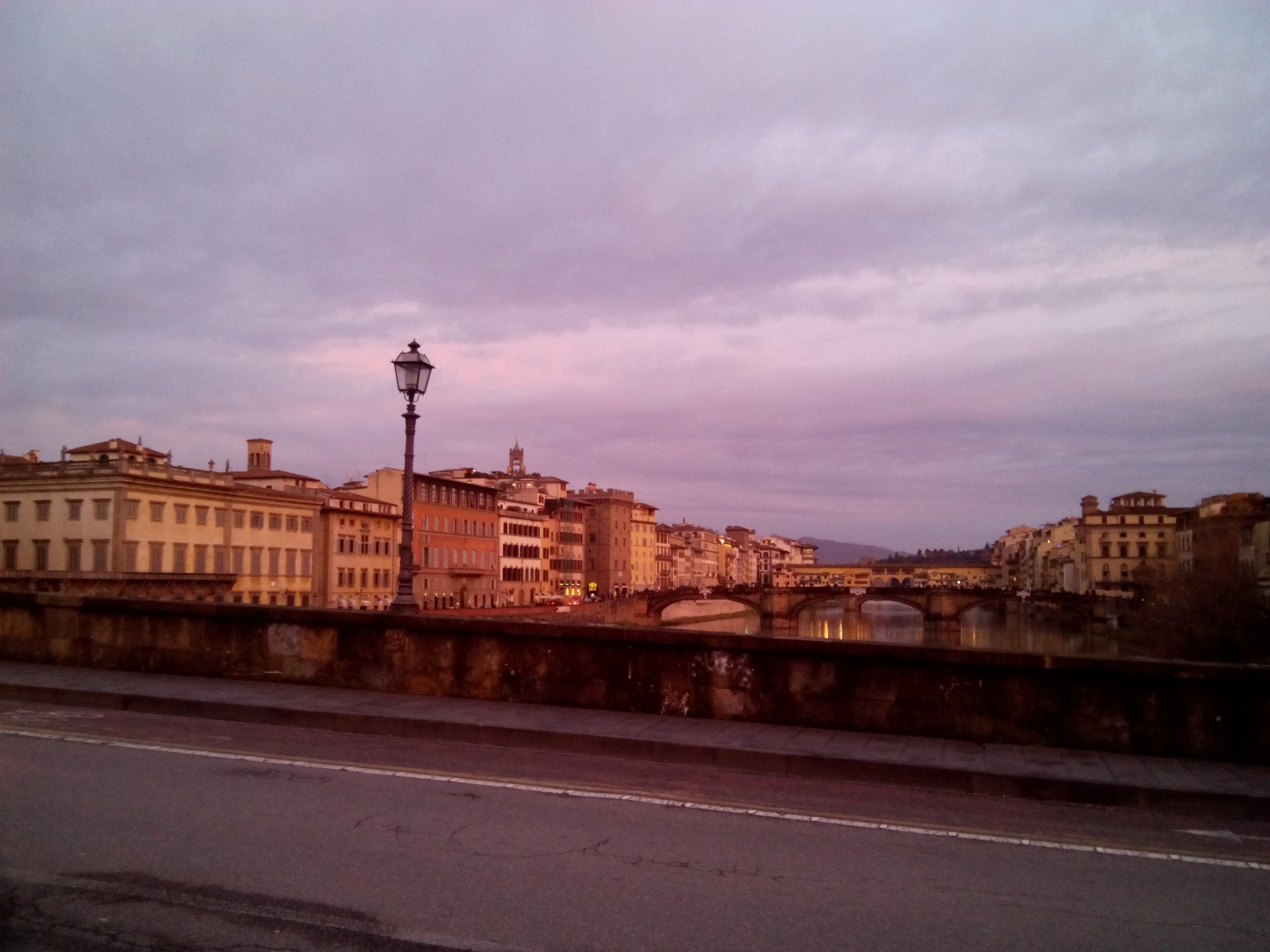 Florence: at sunset