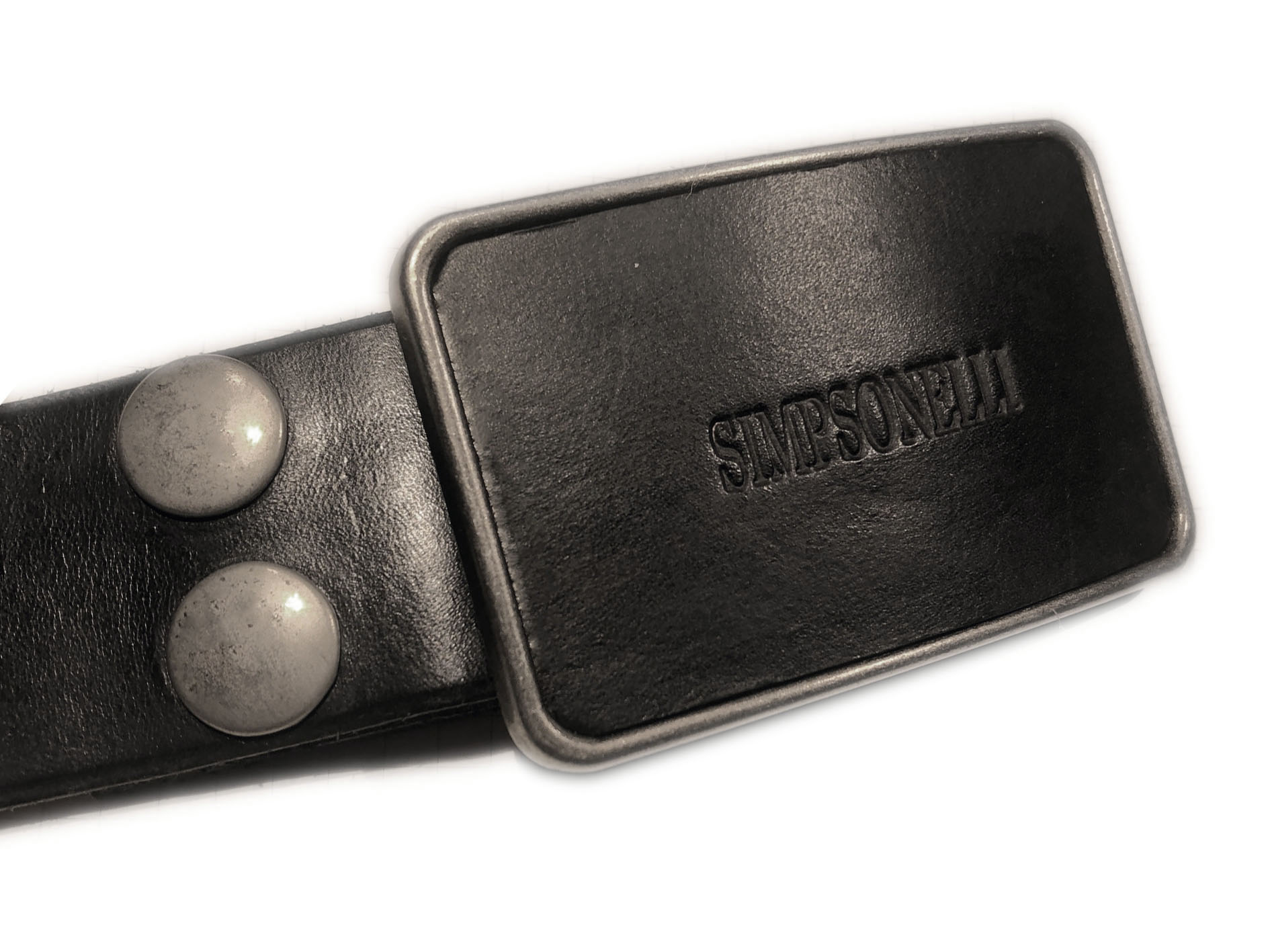 simpsonelli buckle black belt