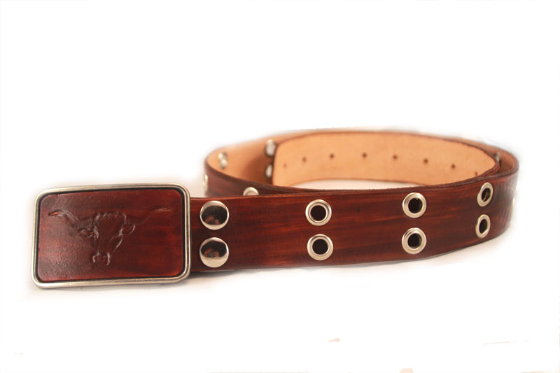 grommet belt + buckle $130+gst