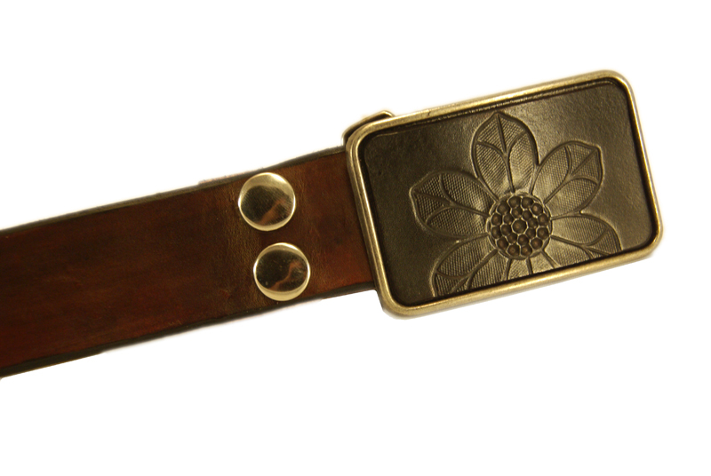 flower 1 w/brown snap belt