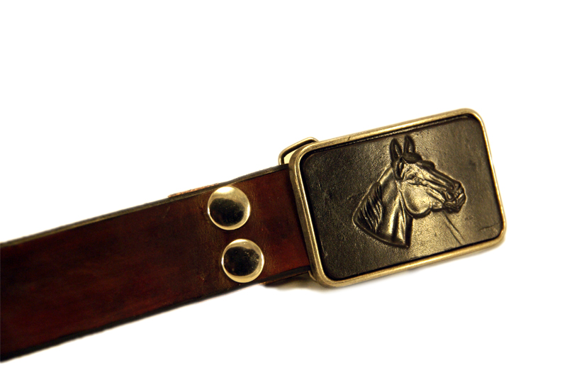 horse buckle brown belt