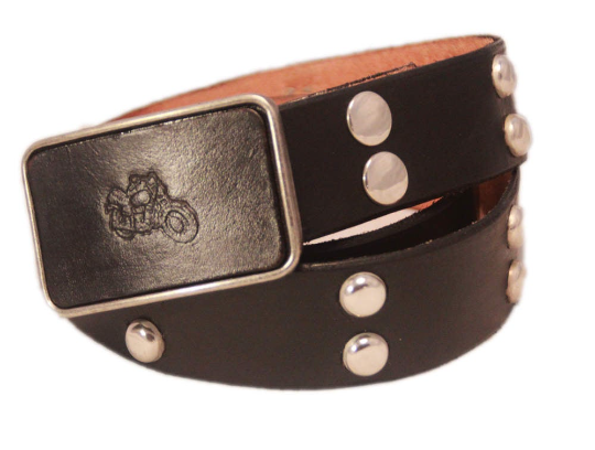 studded snap belt + buckle $125+gst