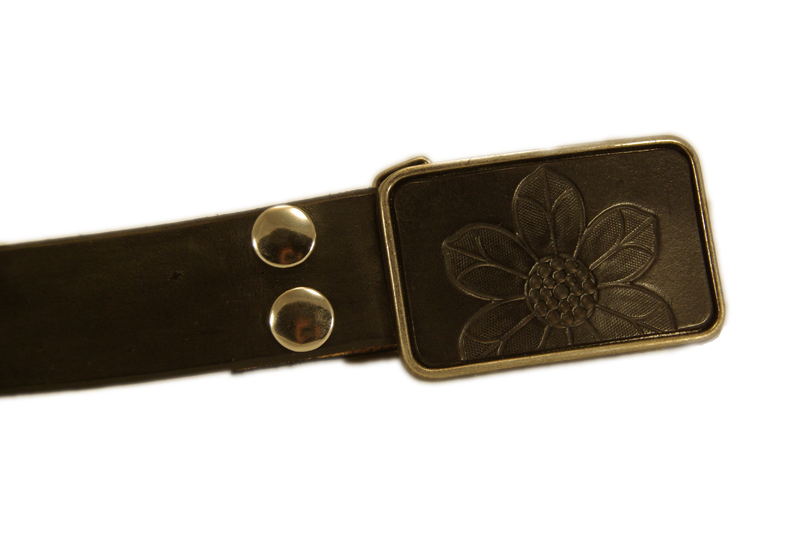 flower 1 w/black snap belt