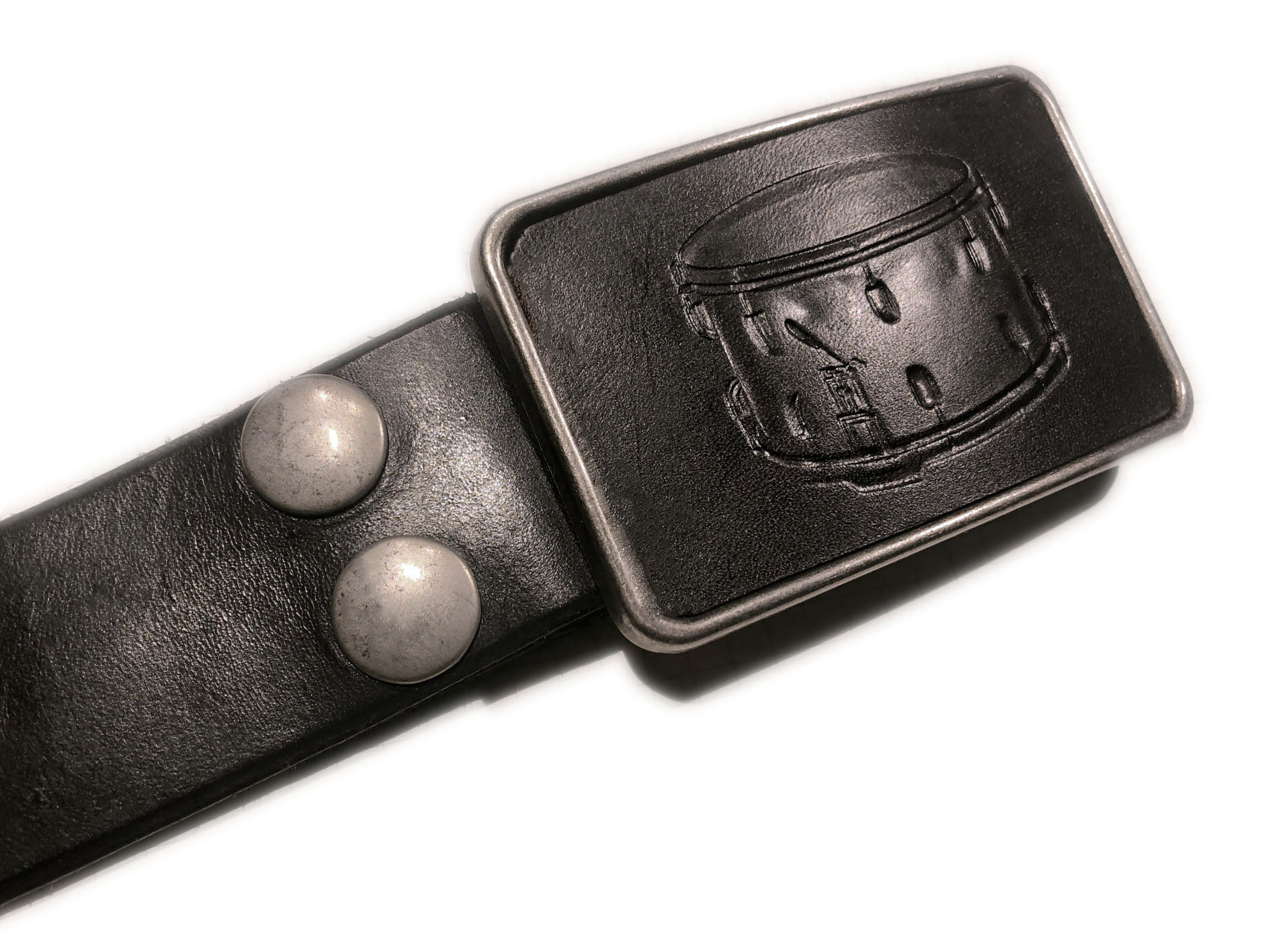 drum buckle black belt