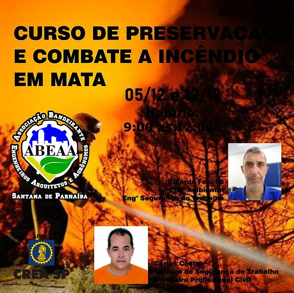 curso de preservação e combate a incendi