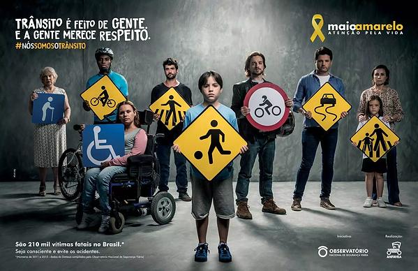 Foto da Campanha Maio Amarelo