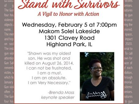 Survivors Week Vigil