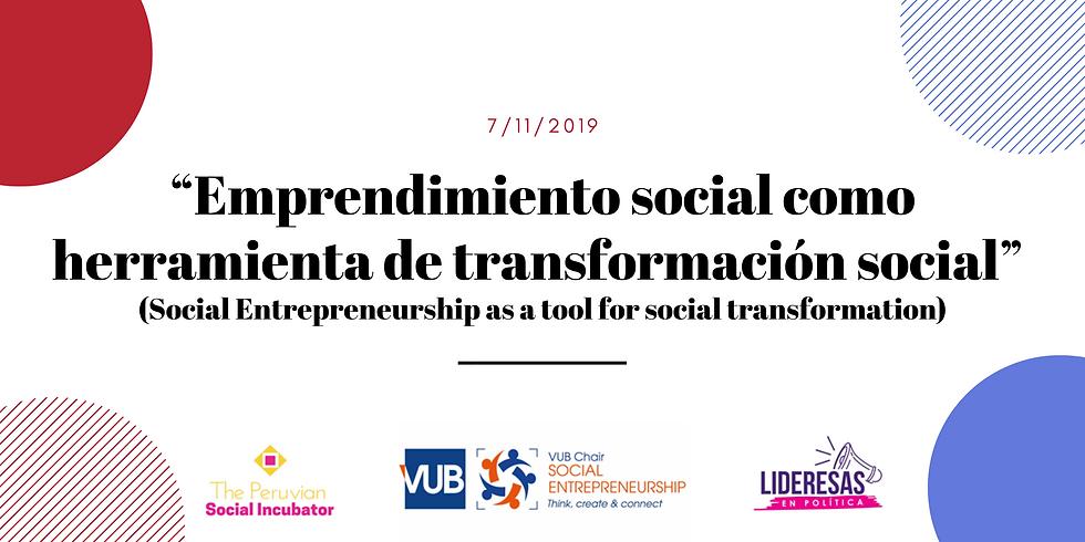 Emprendimiento social como herramienta de transformacion social