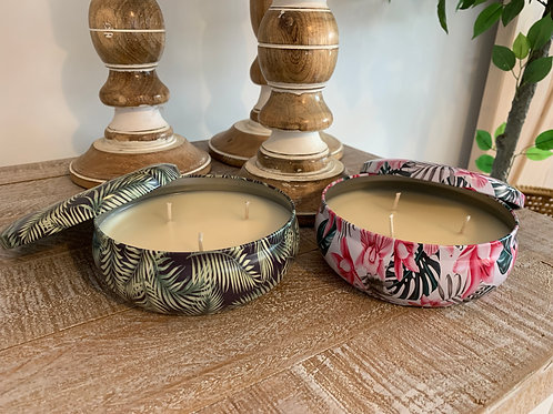 LARGE DECORATOR CANDLE TINS