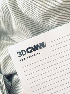 3D-GWW notitieblok ontwerp