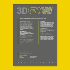 3D-GWW flyer ontwerp