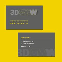 3D-GWW visitekaartje ontwerp