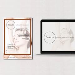 Beaute logo en brochure design