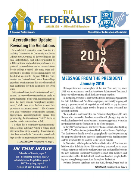 The Federalist- January 2019 Issue