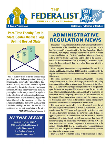 The Federalist- October 2018 Issue