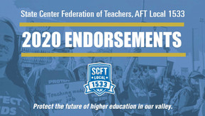 State Center Community College Faculty Union Endorsements