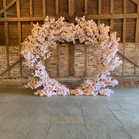 Pink Blossom Arch