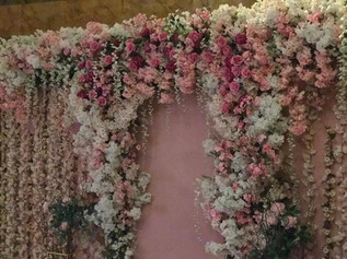 Bespoke hanging floral wall