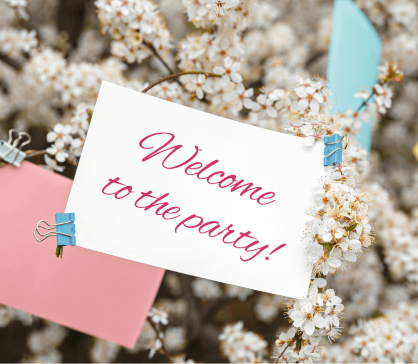 Welcome sign for mindfulness blog