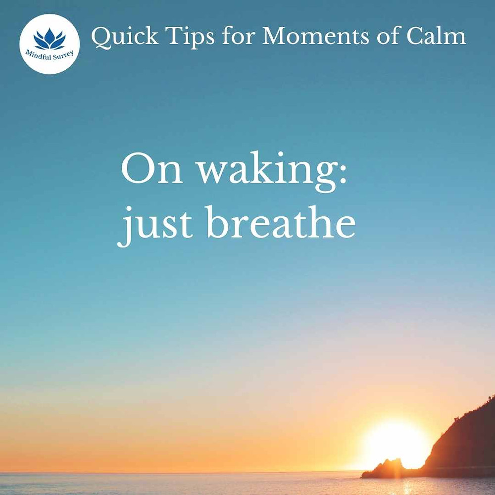 Dealing with intrusive thoughts, mindful breathing sunrise