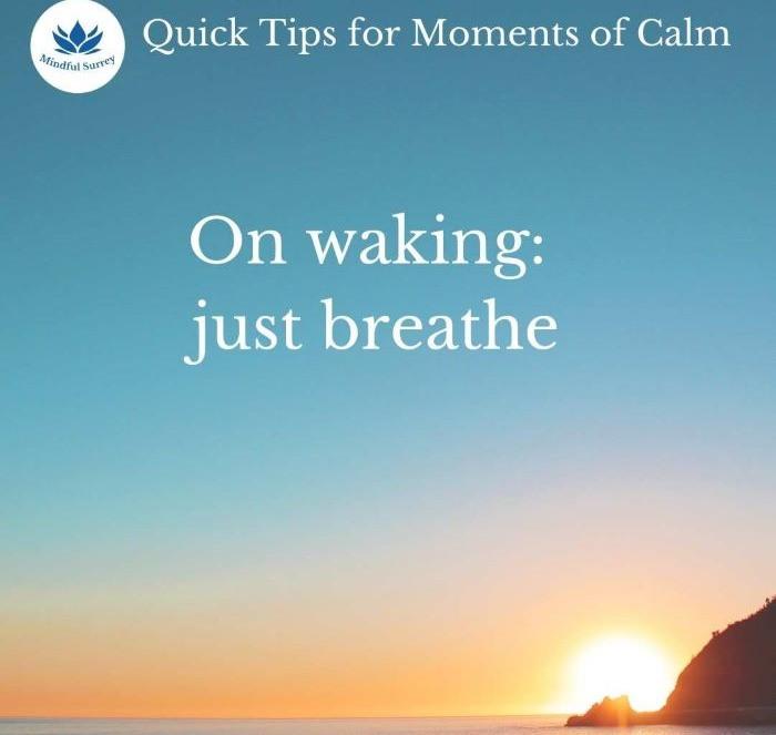 Early morning mindfulness meditation sunrise