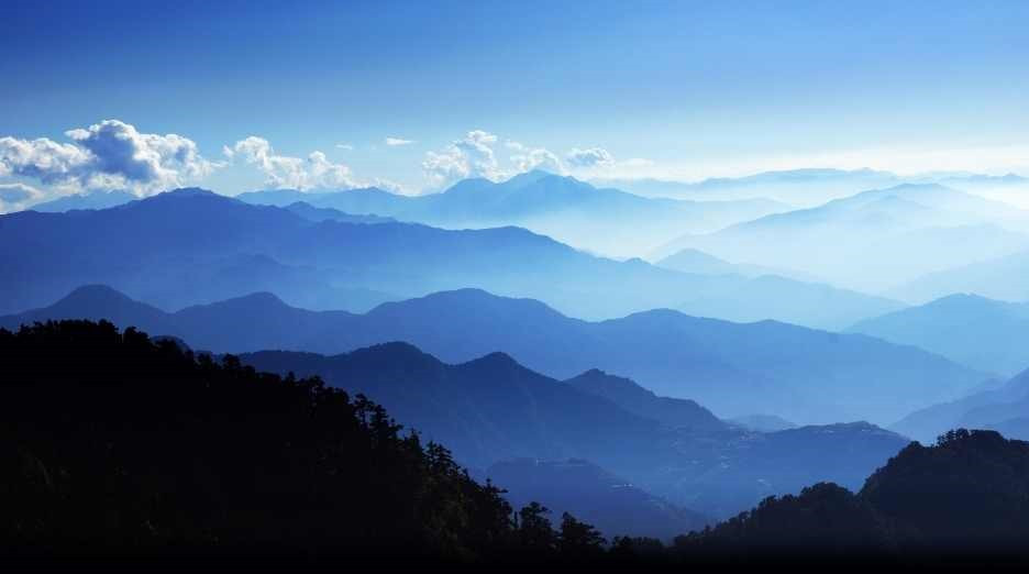 Mountain meditation, to relax, stay calm, let go