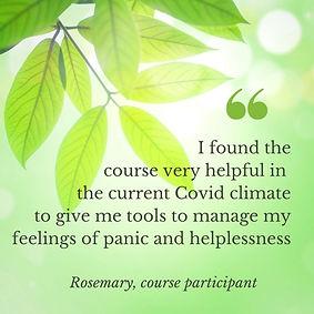 Mindful meditation course, panic, helplessness