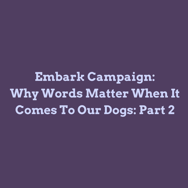 Why Words Matter When It Comes to Our Dogs: Part 2