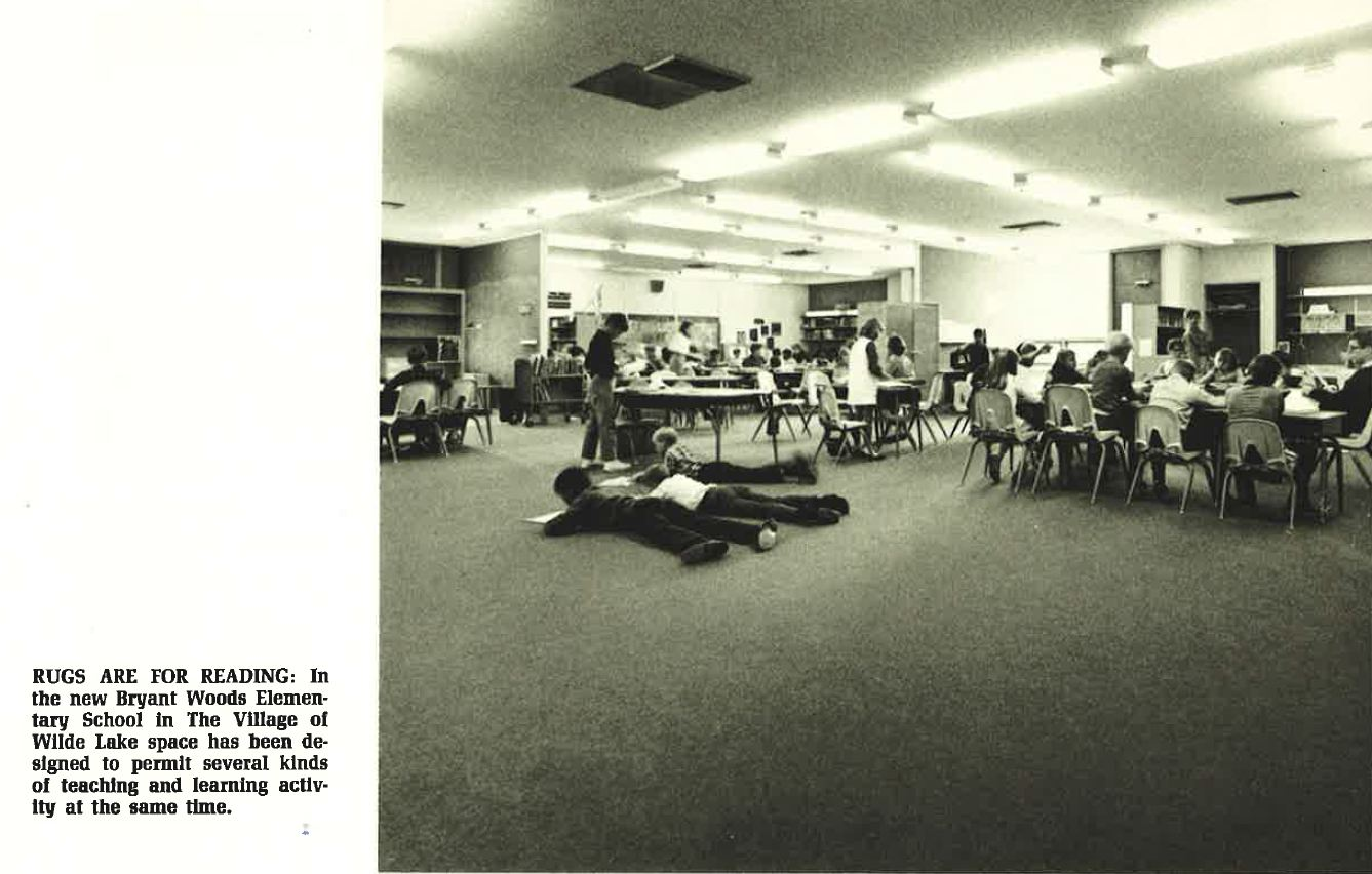 Rugs are for Reading - Bryant  Woods Elementary School  Columbia Today Nov. - Dec. 1968