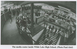 Wilde Lake High School Media Center and The Rail