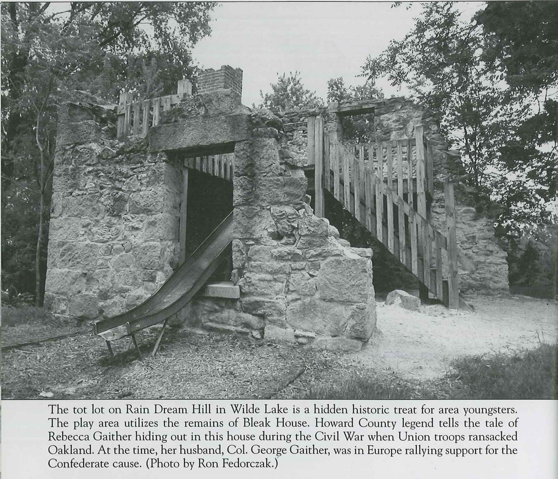 Bleak House aka The Ruins, Tot  Lot on Rain Dream Hill in Wilde Lake