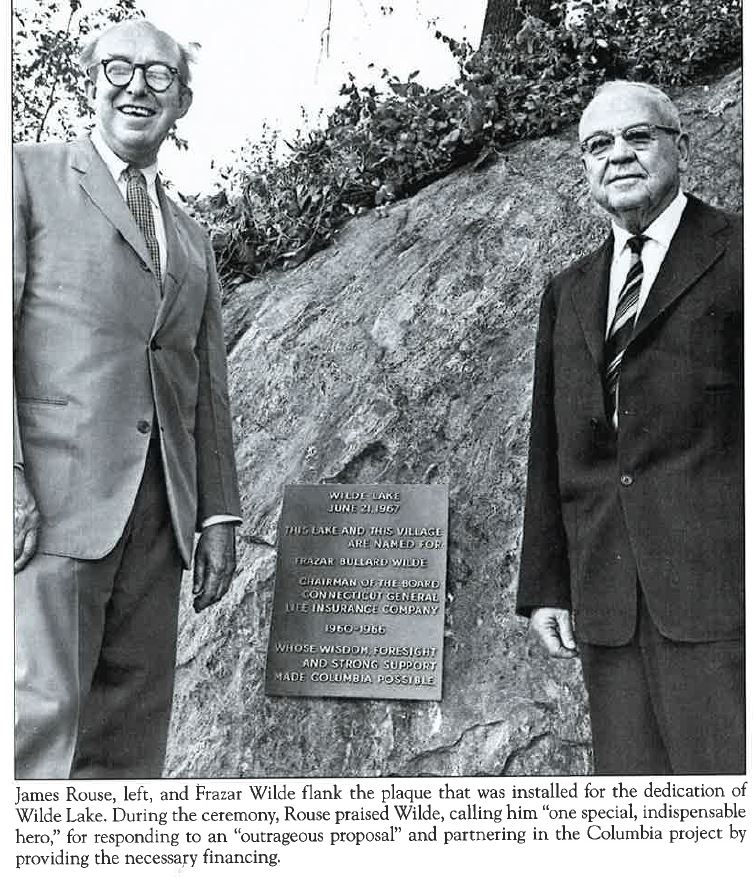 Jim Rouse and Frazar Wilde  Dedication of Wilde Lake 06-21-1967