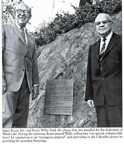 Jim Rouse and Frazar Wilde  Dedication of Wilde Lake 06-21-1967