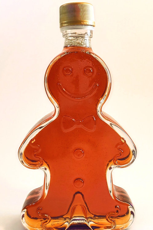 100% Pure Wisconsin Maple Syrup 12 oz Gingerbread Man