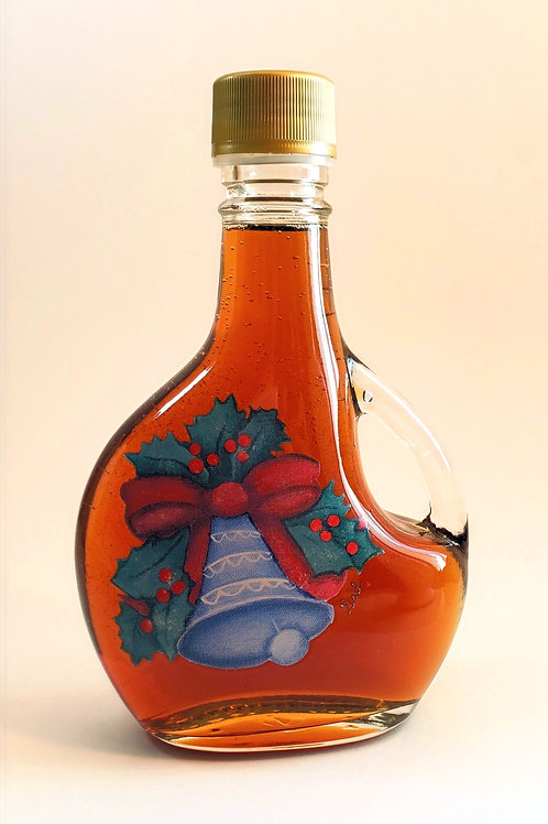 100% Pure Wisconsin Maple Syrup 12 oz Christmas Bell