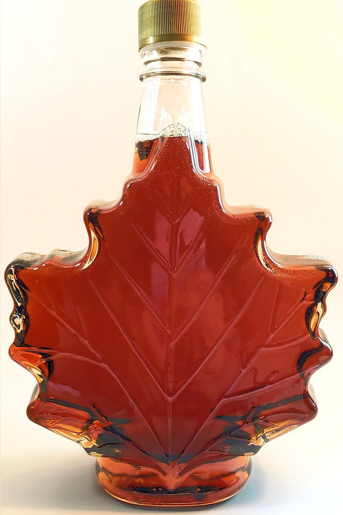 100% Pure Wisconsin Maple Syrup 12 oz Maple Leaf