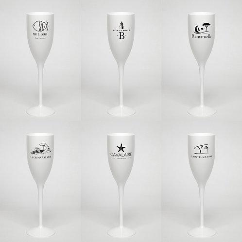 Lot de 6 verres | Blonde of Saint-Tropez