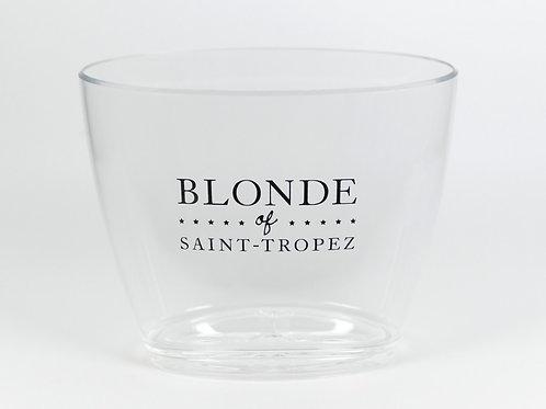 Seau à champagne transparent   Blonde of Saint-Tropez