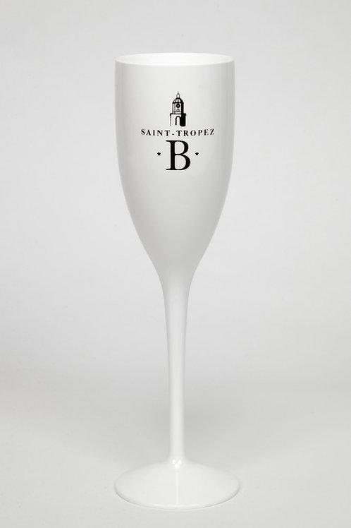 Flûte à champagne blanche   Blonde of Saint-Tropez