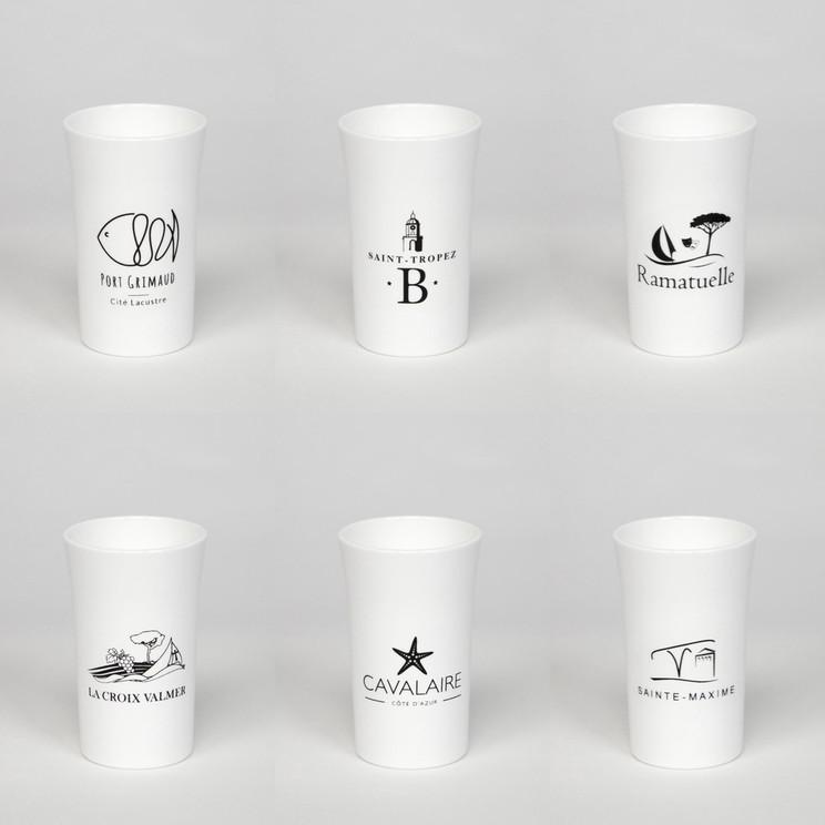 Lot de 6 verres shoot blanc incassables