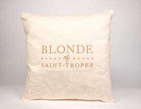 Coussin Blonde of Saint-Tropez
