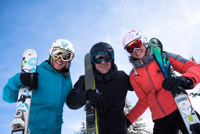 amis au ski