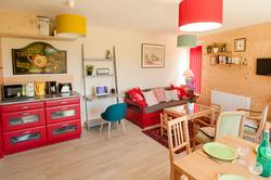 gîte cuisine et salle à vivre