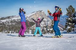 famille skieur
