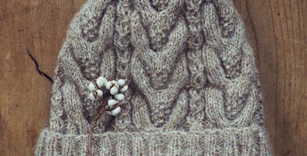 MALOUで編むアランの帽子