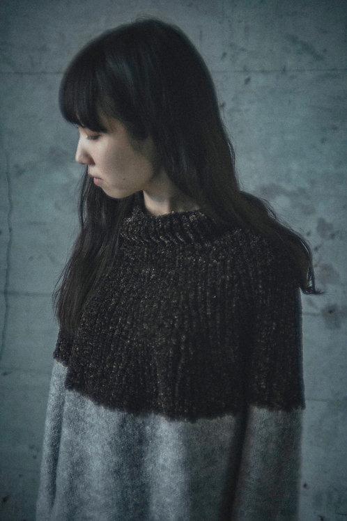 amuhibiknitオリジナルキット2tone sweater