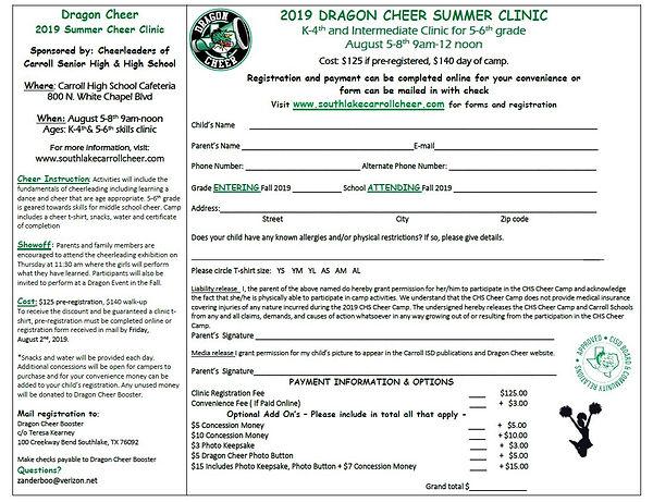 Summer Clinic Registration Form JPEG.JPG