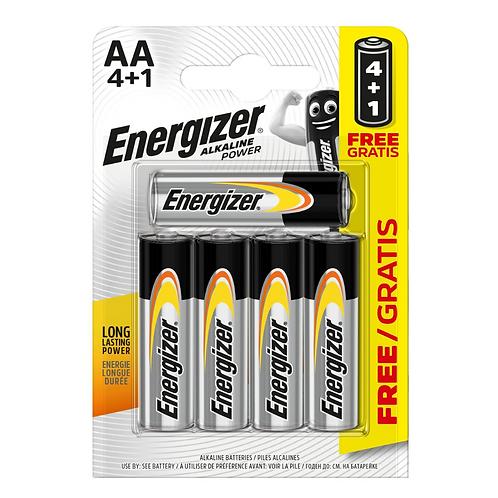 Energizer Alkaline Power AA 4+1 x5